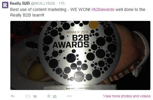 B2B Marketing Content Marketing Award