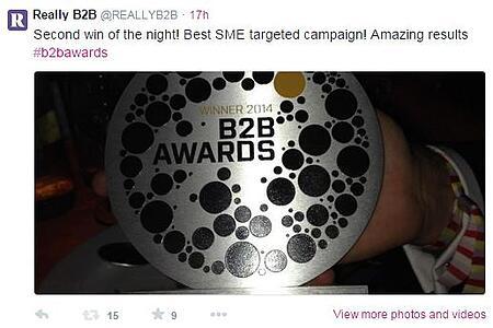 B2B Marketing Awards Best SME Campaign