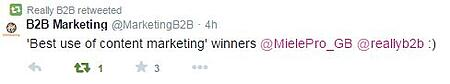 B2B Marketing Awards Tweets