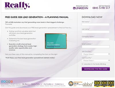 B2B Lead Generation Landing Page Example