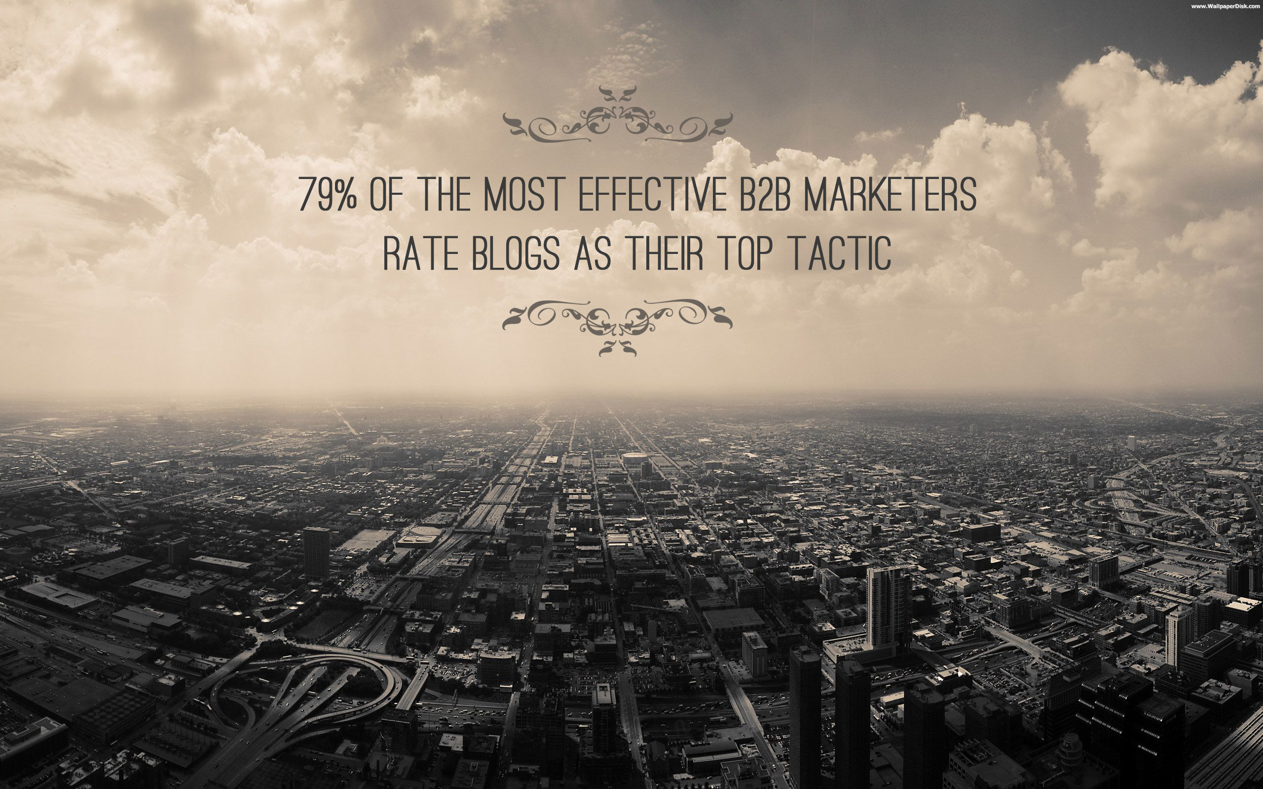 B2B Blogging as top tactic