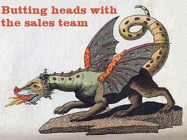 butting heads with the b2b sales team