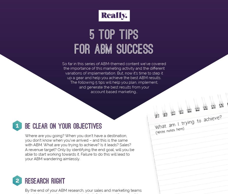 5 top tips for ABM success - checklist